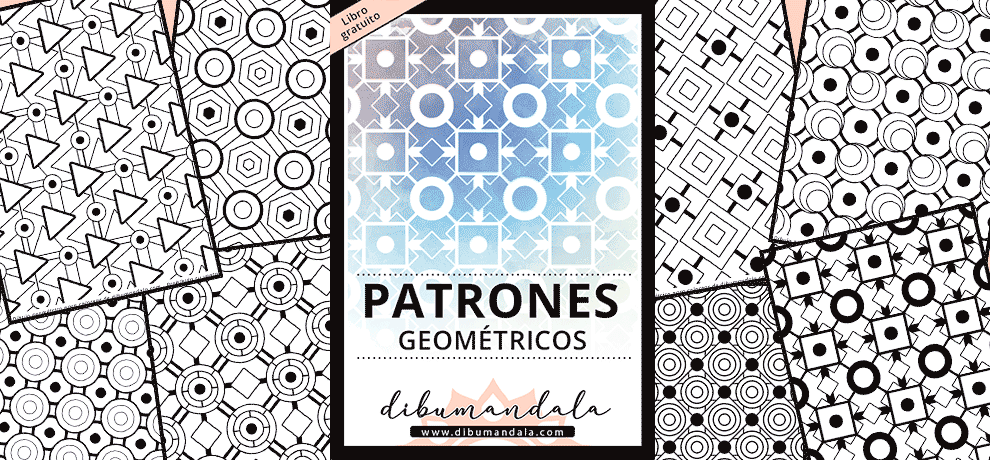 patrones geometricos colorear